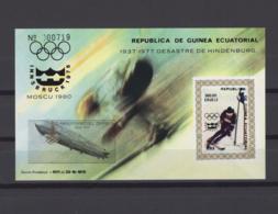 EQUATORIAL GUINEA 1977. Mi# Bl 278, CV €32, Imperf, Olympics - Winter 1976: Innsbruck