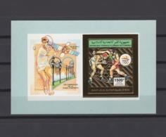 COMOROS 1992. Mi# Bl 379B, CV 22€, Imperf, Golden Foil, Olympics - Summer 1992: Barcelona