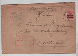 REF260/ TP Oc 3 S/L.Papiers D'affaires Comité Alimentation Sibret C.Sibret 1916 Censure Bastogne > Bastogne - [OC1/25] Gouv. Gén.