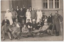 Carte Photo Militaire-souvenir Sejour A L'hopital De Caen-2 Scan - Caen