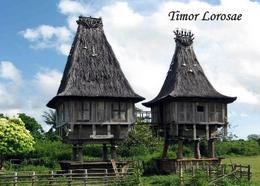 East Timor Sacred Totem Houses New Postcard Osttimor AK - East Timor