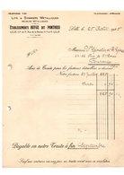 Facture N°624 Etablissements Huyge Dit Ponthieu Lits & Sommiers Métalliques Meubles Métalliques à Lille De 1925 - 1900 – 1949