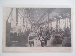 Année(1925) SAINT CLAUDE (Jura) MANUFACTURE Des PIPES  - Atelier D ébauchage   - Ancienne Coupure De Presse - Bruyerepfeifen