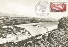 VOUGLANS  -  Maquette  Du  Barrage  /  Oblitération  1969 - Non Classés
