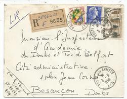 N°1011B+1130+15FR BLASON LETTRE EC POSTE AUX ARMEES 3.9.1959 AFN - Guerra D'Algeria