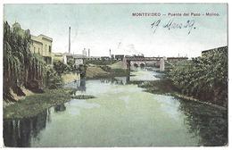 URUGUAY - Montévideo - Puente Del Paso - Molino - 1909 - Uruguay