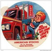 Autocollant  AMERICAN STOCKS  - 51 Av Kennedy 68200 MULHOUSE HAUT RHIN - Autocollants
