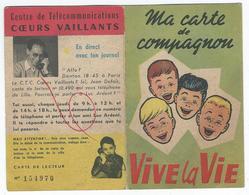 """SCOUTISME ? - Carte De Compagnon """"Coeurs Vaillants - Documents Historiques"""