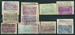 Lot Van 10 Zegels Gestempeld Op Fragment NORD BELGE - HASTIERE - Bahnwesen