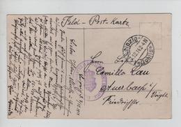 REF264/ Deutsches Reich Feld-Post-Karte Foto C.Leipzig 4/12/14  Regiment Seal (purple) - Allemagne