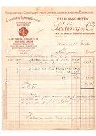 Facture Fournitures Générales Pour Literie Ameublement & Tapisserie épuration De Plumes & Duvets Leclercq & Cie En 1927 - 1900 – 1949