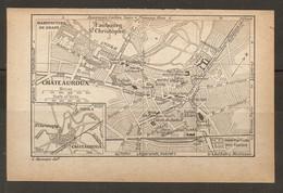 CARTE PLAN 1925 CHATEAUROUX - MANUFACTURE De DRAPS Et De TABACS DÉOLS JARDIN PUBLIC - Mapas Topográficas