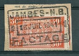 TR 257 Gestempeld Op Fragment JAMBES NB - FACTAGE - Bahnwesen