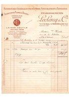 Facture Fournitures Générales Pour Literie Ameublement & Tapisserie Leclercq & Cie La Madeleine-Lez-Lille Juillet 1927 - 1900 – 1949