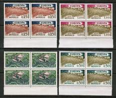 "MONACO   Scott # 507-9,C 61** 1962 ""EUROPA"" VF MINT NH BLOCKS Of 4 (LG-1212) - Monaco"