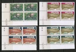 """MONACO   Scott # 507-9,C 61** 1962 """"EUROPA"""" VF MINT NH CORNER BLOCKS Of 4 (LG-1213) - Monaco"""