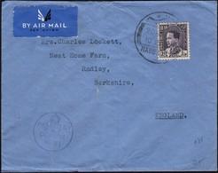 Iraq - Airmail Censored Cover 'PASSED By R.A.F. CENSOR', Habbaniya 20.5.1941 - Radsley, UK. - Irak