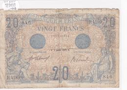 Billet De 20 Francs Bleu Du 8 Février 1913 - R.4189 Alph 846 @ N° Fayette : 10.3 - Date Peu Commune ! - 1871-1952 Antichi Franchi Circolanti Nel XX Secolo