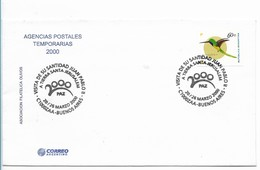ARGENTINA 2000, VISIT OF JOHN PAUL II TO JERUSALEM COVER WITH SPECIAL POSTMARK - FDC