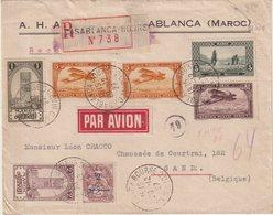 "MAROC : PA . REC . DE "" CASABLANCA "" . POUR LA BELGIQUE  . 1927 . - Maroc (1891-1956)"