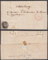 """Belgique - Lettre COB 6 Oblitération P96 """" Philippeville"""" 27/04/1857 (BE) DC6605 - 1851-1857 Médaillons (6/8)"""