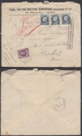 Belgique - Lettre COB 198+211 X3 En Exprès De Gand 02/05/1923 Vers Rabat Maroc  (BE) DC6623 - 1921-1925 Petit Montenez