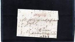 CG8 - Oleggio  -  Ann. Lineare Rosso LI° Tipo Usato In Periodo Sardo - Lett. X Novara 30/11/1814 - 1. ...-1850 Prefilatelia