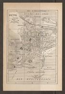 CARTE PLAN 1925 CETTE - NOUVEAU CASINO MONTAGNE De CETTE BATTERIE USINE SCHNEIDER STATION ZOOLOGIQUE - Topographische Kaarten