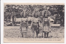 CP SAMOA Trois Demoiselles D'honneur Presidant Une Fête - Samoa