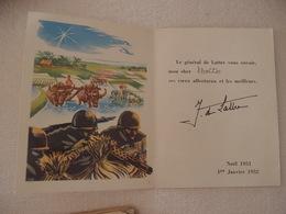 Indochine Carte De Voeux 1951 Signée Par Le Général De Lattre - Other Wars