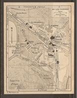 CARTE PLAN 1925 AX Les THERMES ESQUIME D'ASE LE COULOUBRET CASINO LE TEICH GENDARMERIE - Topographische Kaarten