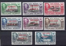 Colonie Anglaise, Falkland Et Dépendances - Géorgie Du Sud - N° 1 à 8 ** Luxe - Georgia Del Sud