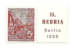 1959 - Germania Est 436 Esposizione Filatelica - Esposizioni Filateliche
