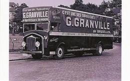 Camion Minerva AB4R Avec Publicité G.Granville De Bruxelles (Tapissieres)    -  15x10 PHOTO - Camions & Poids Lourds