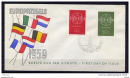 Lil3M59 EUROPA 1959 Nederland FDC 19/09/1959 - 1959