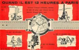 PUBLICITE - QUAND IL EST 12H A PARIS - LE COMPTOIR PARIS BESANCON - Reclame