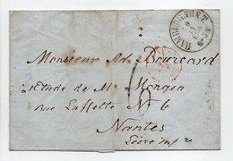 - Lettre HAMBURG (Hambourg / Allemagne) Via VALENCIENNES Pour NANTES 10 NOV 1859 - Taxe Munuscrite 6 Décimes - Poststempel (Briefe)