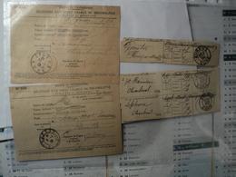 LOT DE RECEPISSES D UN OBJET CHARGE OU RECOMMANDE. 1899 / 1918 PLUS DEUX RECUS POSTES ET TELEGRAPHES. TAMPONS D EVREUX. - 1800 – 1899
