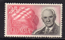 COLOMBIA 1965 MANUEL MEJIA CENT. 25c MNH - Colombia