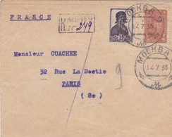 Env Recommandée T.P Ob Mochba 14 7 35  Env Pour Paris - Covers & Documents