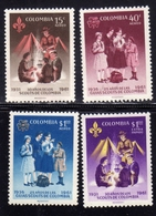 COLOMBIA 1962 AIR MAIL AEREO POSTA AEREA BOY AND GIRL SCOUTS SCOUT SCOUTING COMPLETE SET SERIE COMPLETA MNH - Colombia