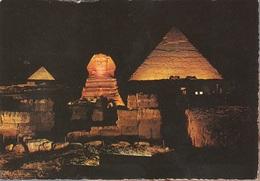 Post Card Egypt - Giza Sound And Light Show At The Pyramids  - Viag. 1984 Per Bergamo - Gizeh