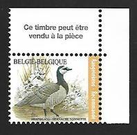 Belg. 2020 - La Bernache Nonnette ** (timbre Pour Recommandé) - Belgique