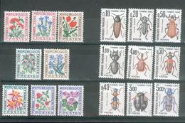 FRANCE ; Taxes ; Fleurs/insectes ; 1964-1983 ; Lot : 23 ; Neuf Ttbe - 1960-.... Neufs