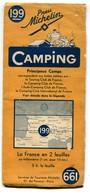 Carte Michelin N° 199 (France Sud) Camping Saison 1938 (4 Scans) - Cartes Routières