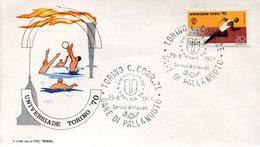 51249 Italia, Special Postmark 1970 Torino, Universiade  Pallanuoto  Water Polo - Wasserball