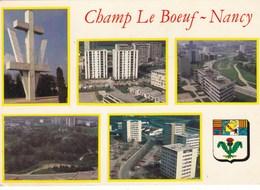 CHAMP LE BOEUF - NANCY - MEURTHE & MOSELLE - (54) - PEU COURANTE CPSM MULTIVUES. - Nancy