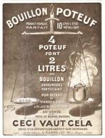 "PUB BOUILLON  "" POTEUF ""    1915 ( 1 ) - Dozen"