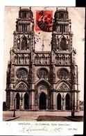 3. Orléans. La Cathédrale, Eglise Sainte Croix. De E. Defrance à Sa Femme Hélène Chez M. Devilane à Melun. 1908. - Orleans