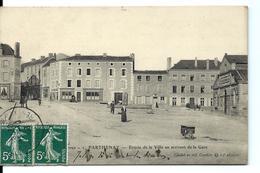 PARTHENAY - Le Bourg - En Arrivant De La Gare (1907) + Cachet GARE - Parthenay